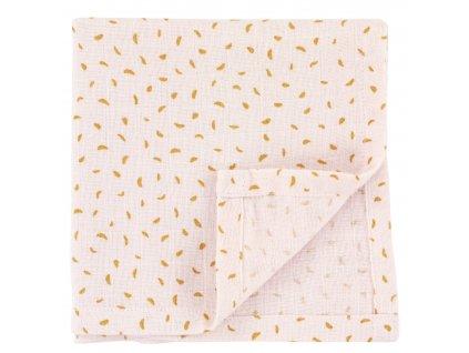 1662 bavlnena plenka muslin cloths moonstone 55 cm set 3 ks