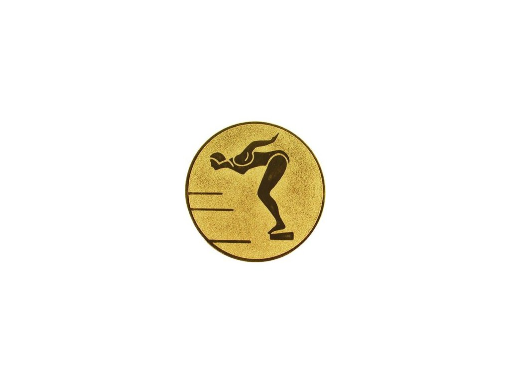 Emblém 25mm  12 plávanie ženy