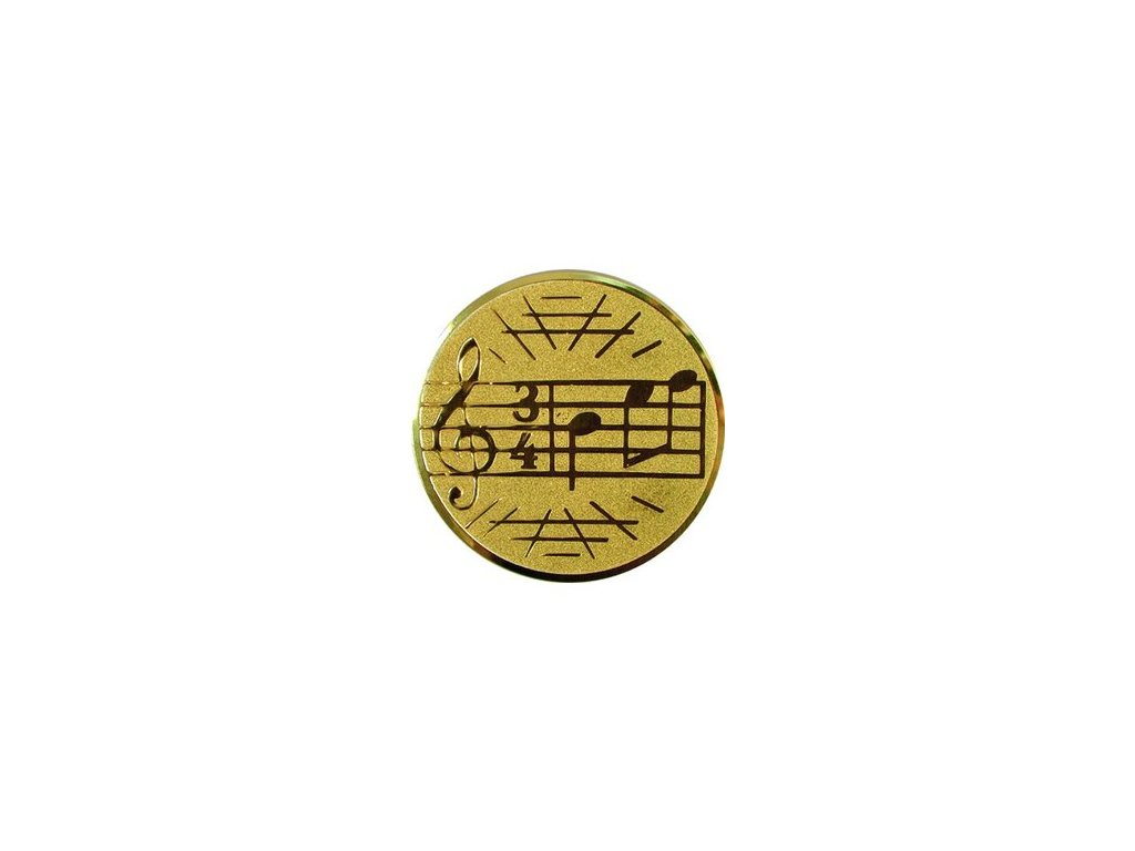 Emblém 25mm  26 hudba
