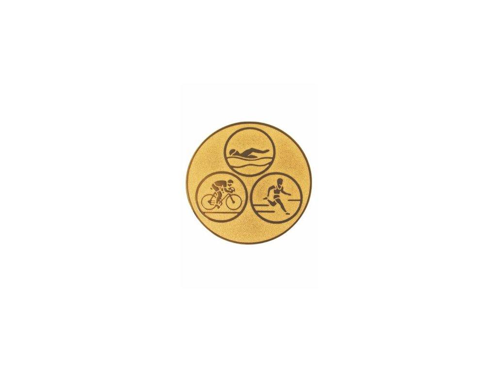 Emblém 25mm  35 triatlon leto