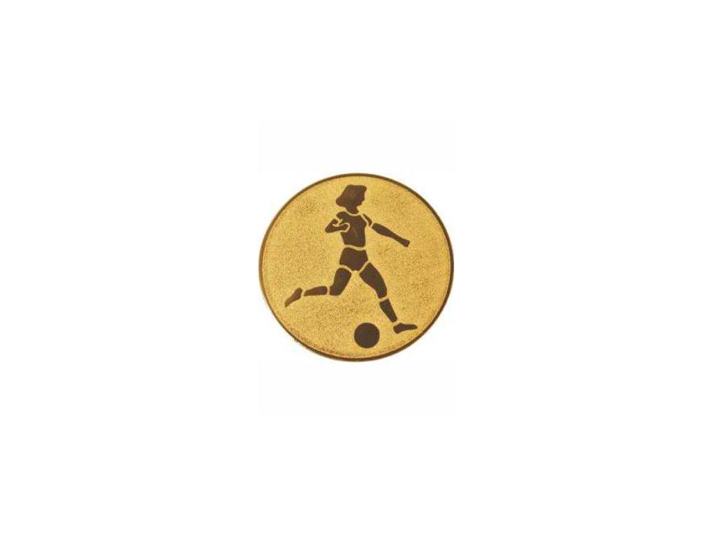 Emblém 25mm  38 futbal ženy