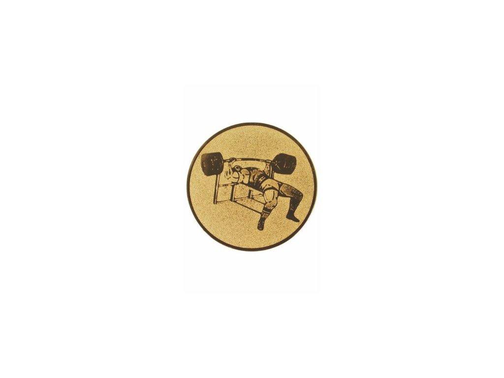 Emblém 25mm  53 silový trojboj
