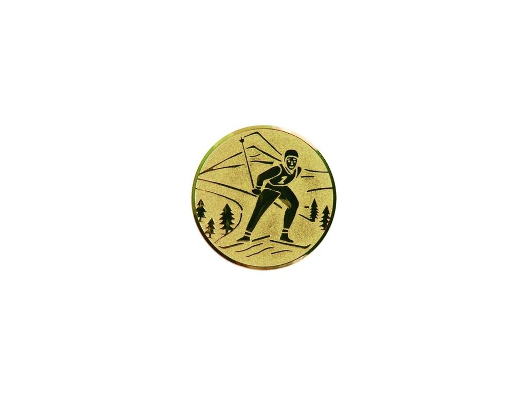 Emblém 25mm  73 lyžovanie beh
