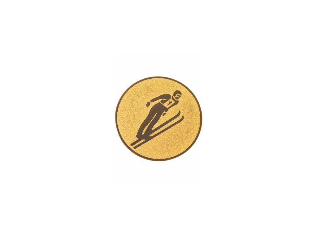 Emblém 25mm  74 lyžovanie skoky