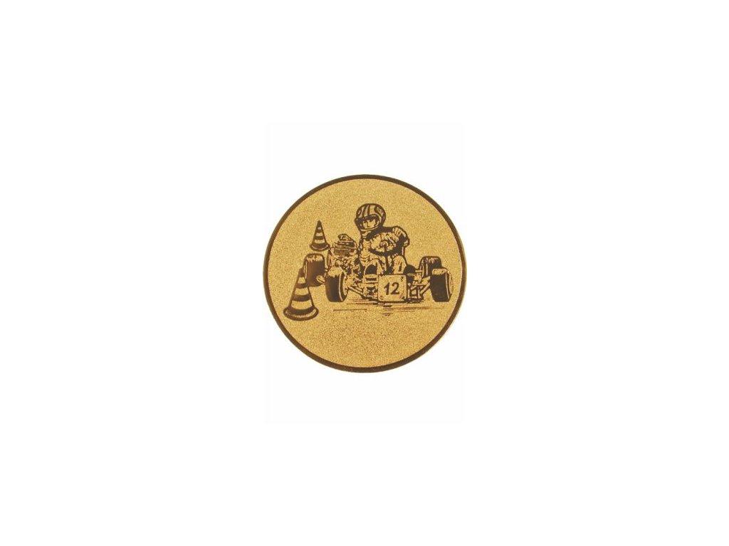 Emblém 25mm  89 motokáry