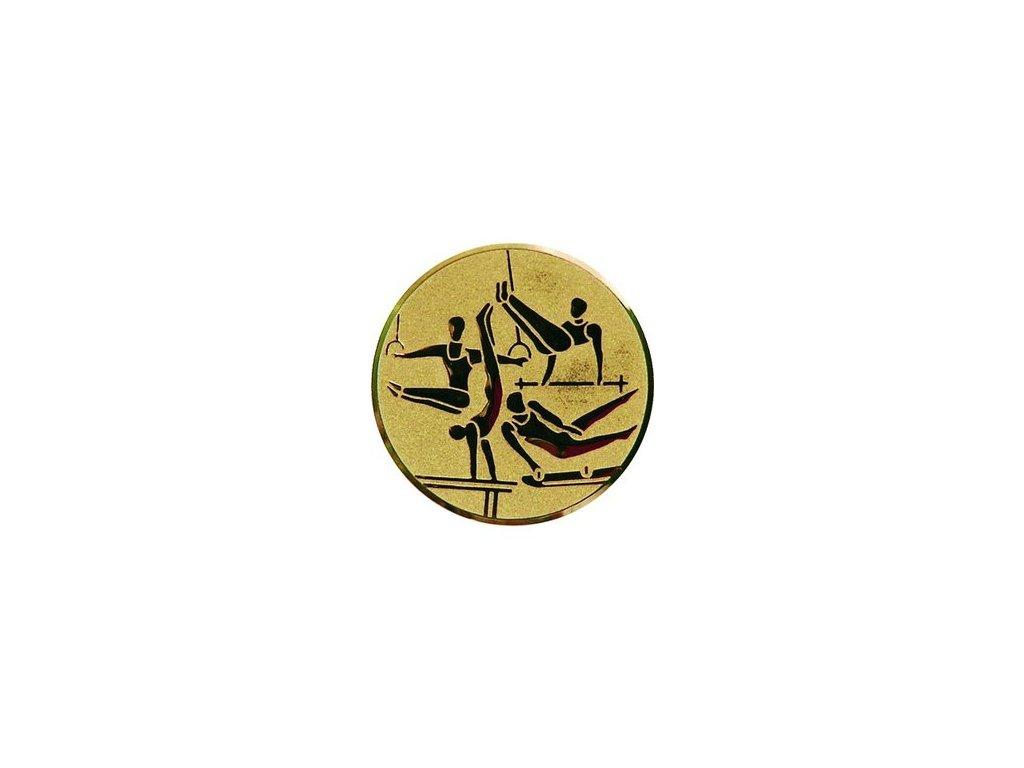 Emblém 50mm  97 gymnastika muži