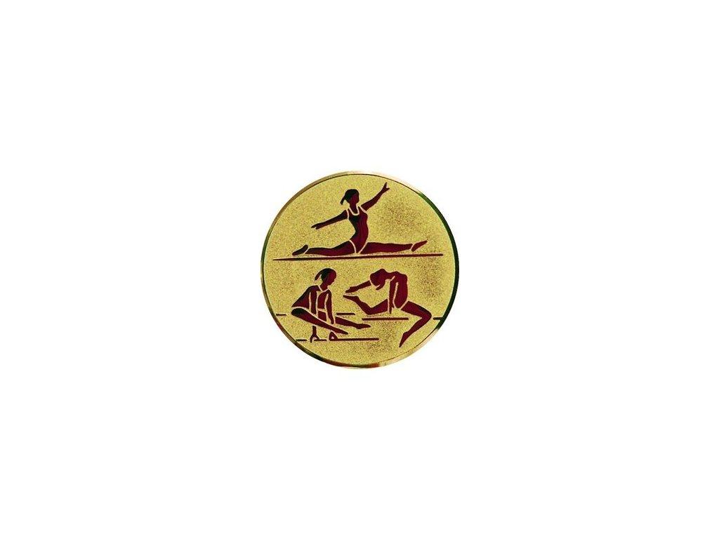 Emblém 50mm  96 gymnastika ženy