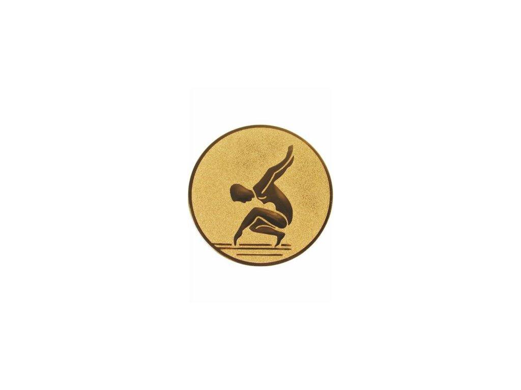 Emblém 50mm  77 gymnastika ženy