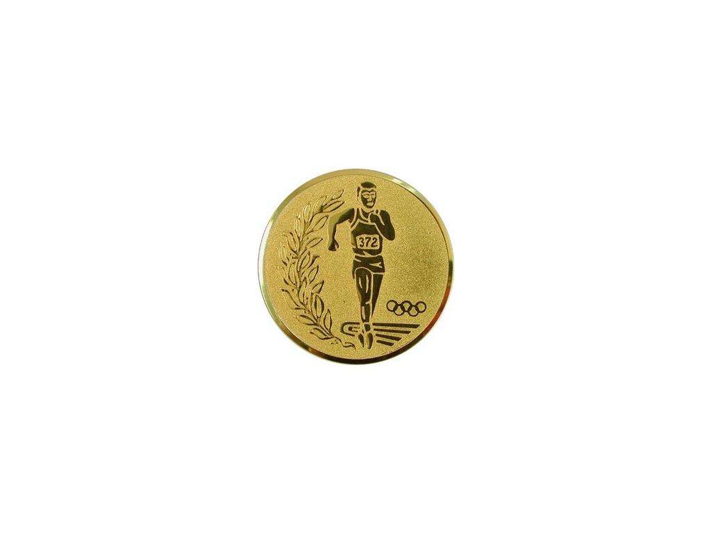 Emblém 50mm  34 atl.+olympijské kruhy