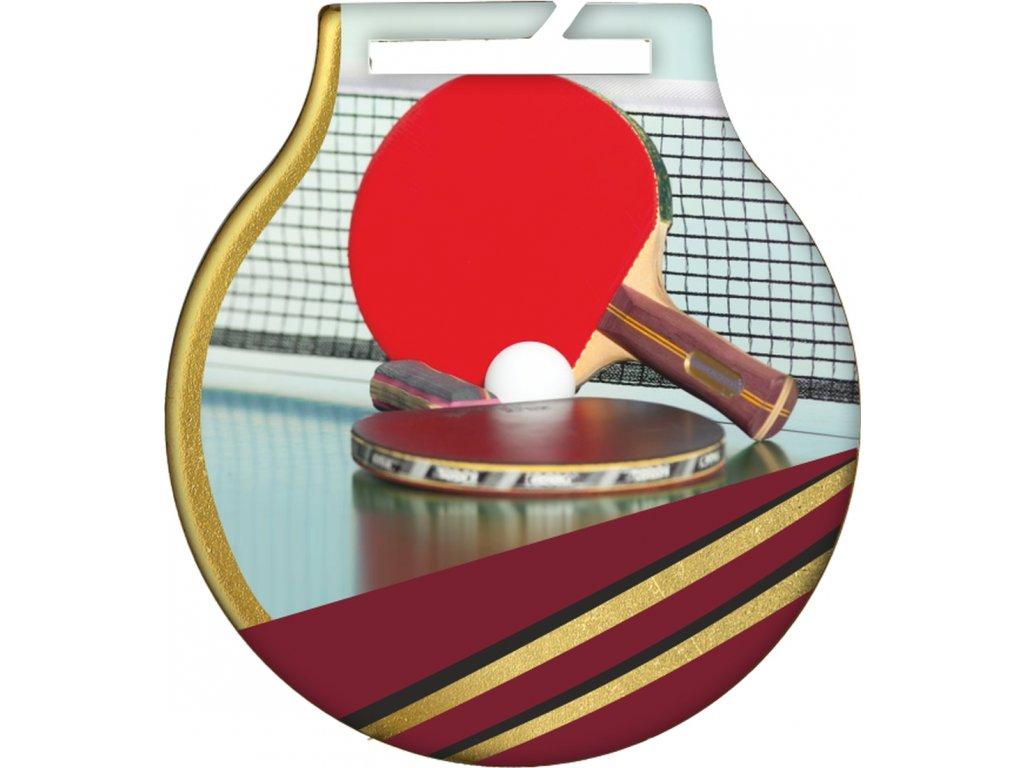 Medaila MC61/G/stolný tenis