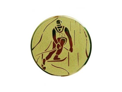 Emblém 50mm  72 lyžovanie zjazd