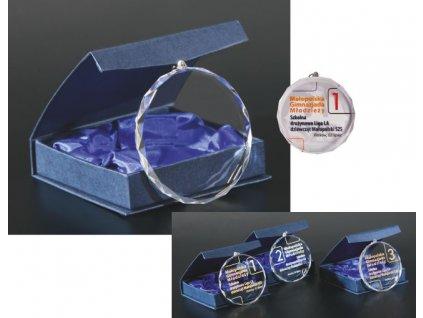 Medaila CM002 sklo + gravírovanie