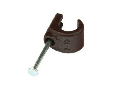 držák kabelu hnědý