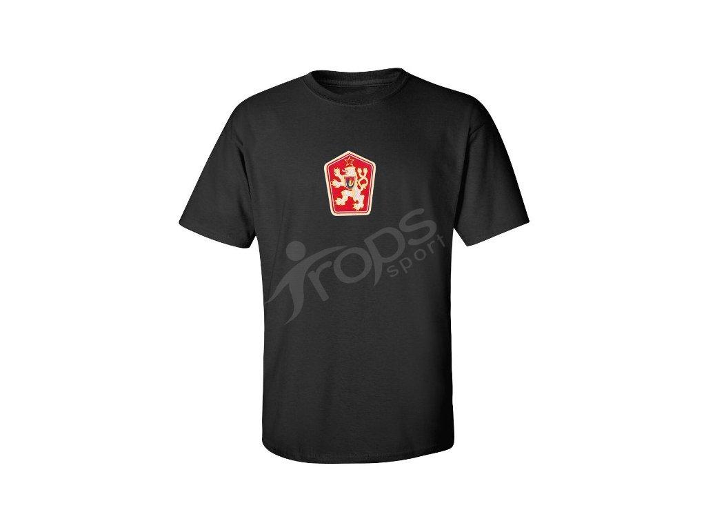 4b55bcfba8525 Tričko ČSSR černé - trops-sport.cz