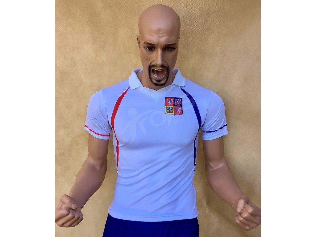 fotbalovy dres cr bily