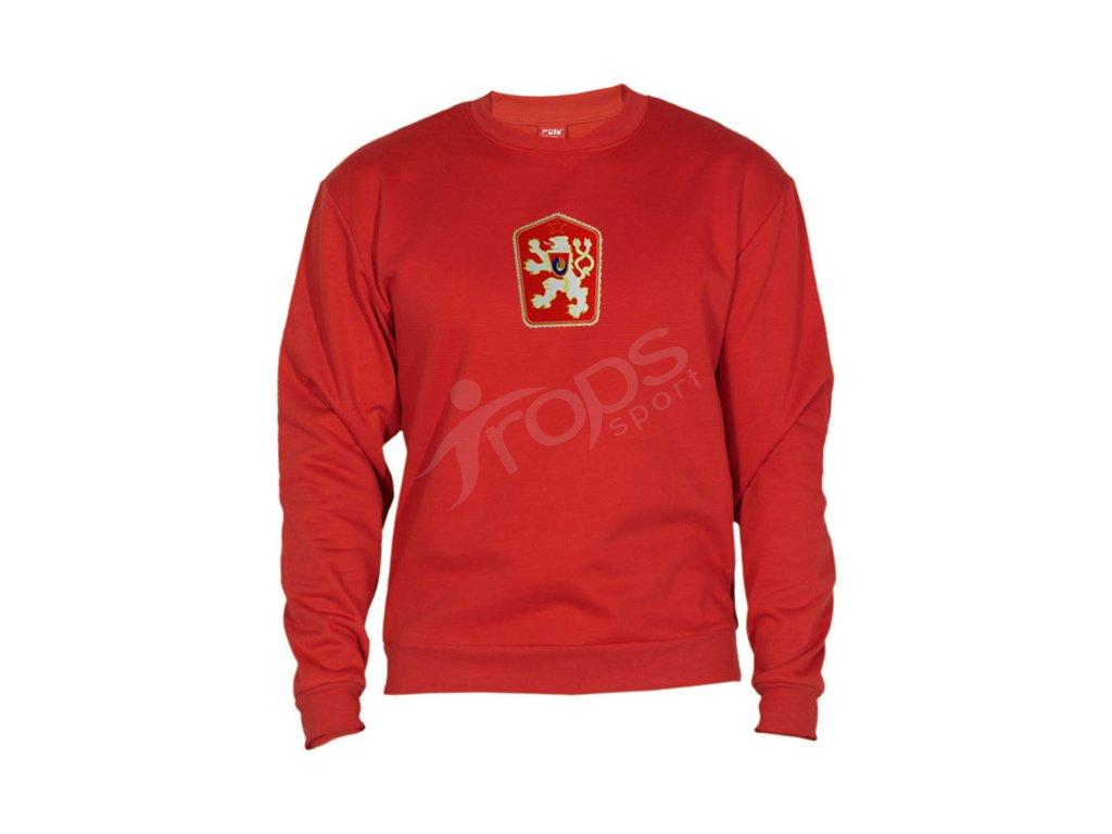 Mikina ČSSR RETRO KLASIC - červená  75452ee3271