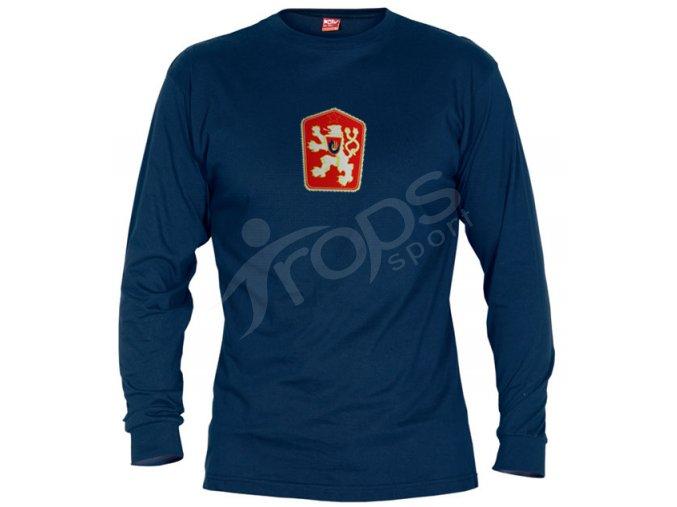 Tričko ČSSR dlouhý rukáv modré
