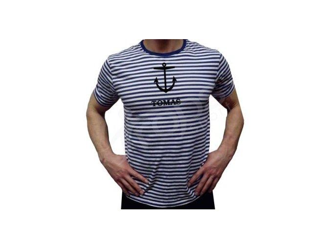 Námořnické tričko TOP Kotva a jméno