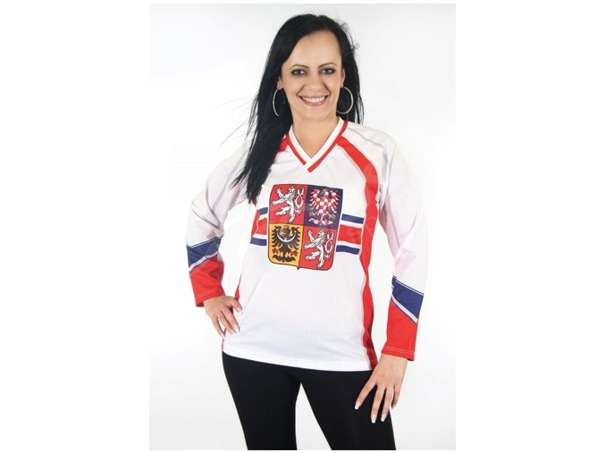 Dámský hokejový dres ČR TOP - bílý