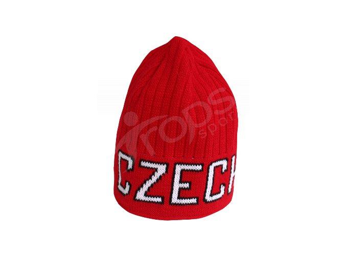 Zimní čepice CZECH - červená