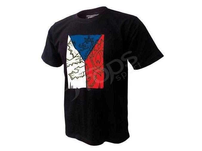 Tričko CZECH VLAJKA - černé