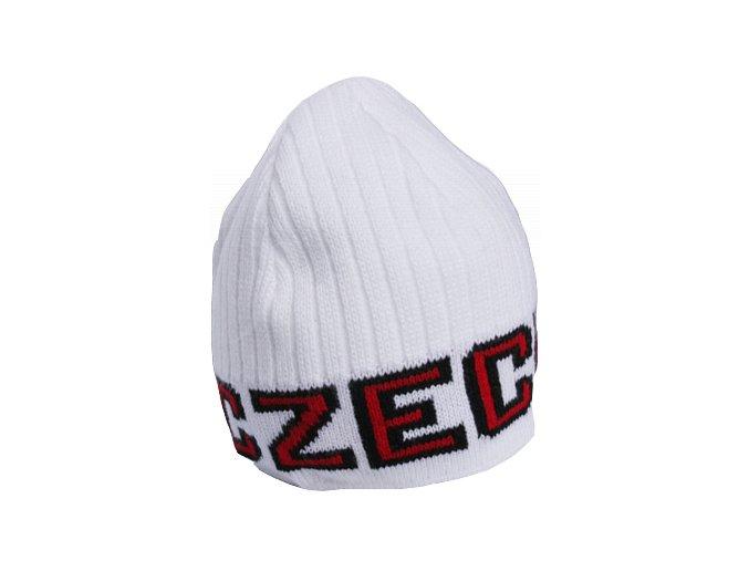 Zimní čepice CZECH bílá