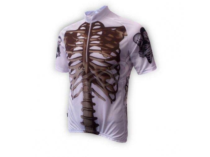 Cyklistický dres KOSTRA silniční - bílý