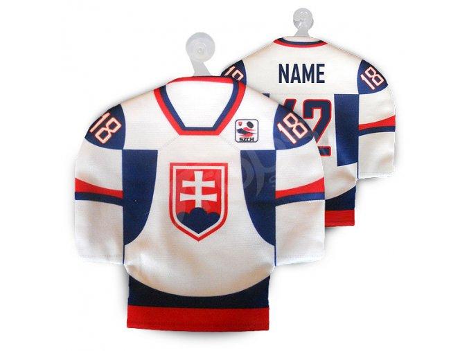 Hokejový mini dres SLOVENSKO - bílý