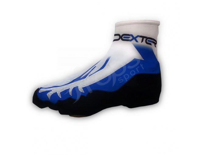 Návleky na boty light DEXTER FOOT se zipem - modré