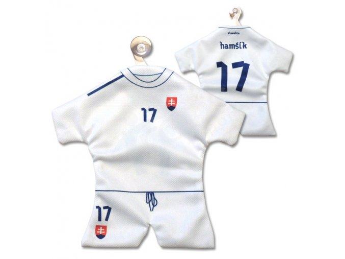 Fotbalový mini dres SLOVENSKO - VLASTNÍ JMÉNO A ČÍSLO -bílý
