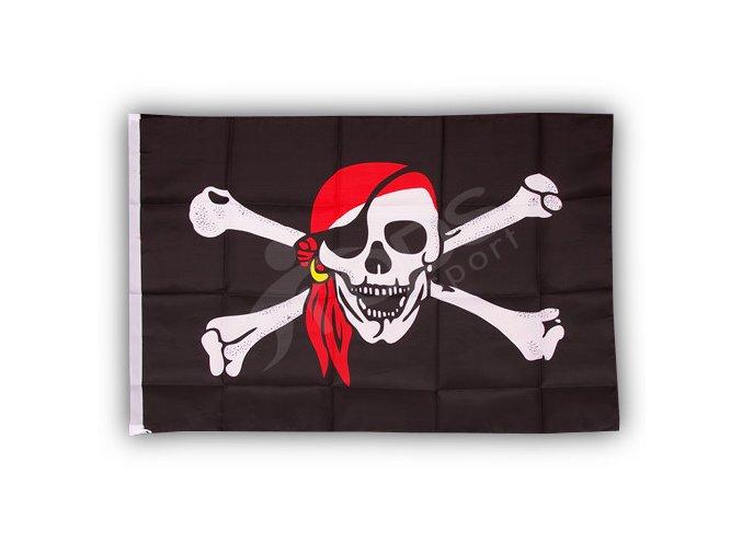 Pirátská vlajka šátek 150 x 90cm