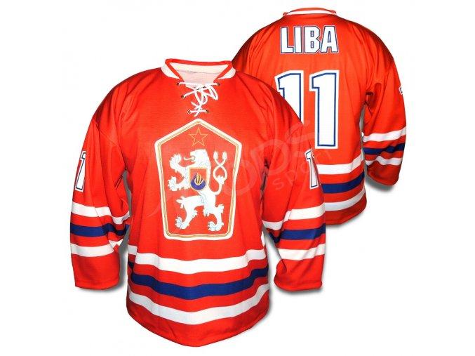 Hokejový RETRO dres ČSSR TOP - červený