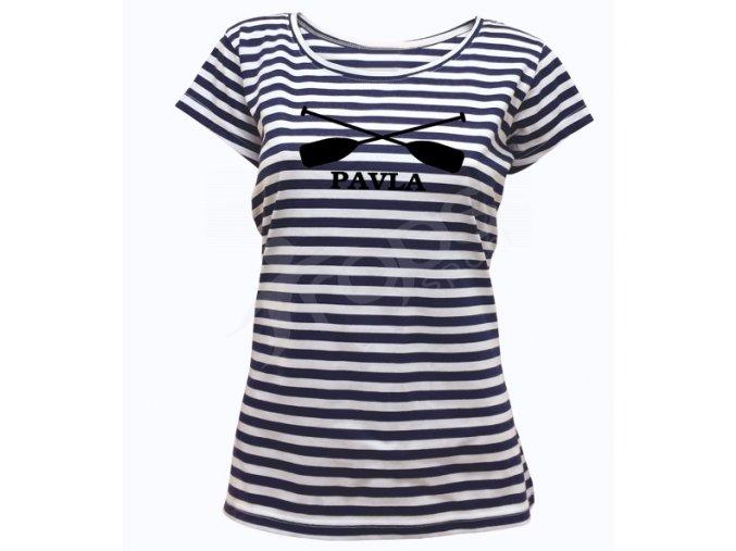 Dámské námořnické tričko Sailor Pádla a jméno