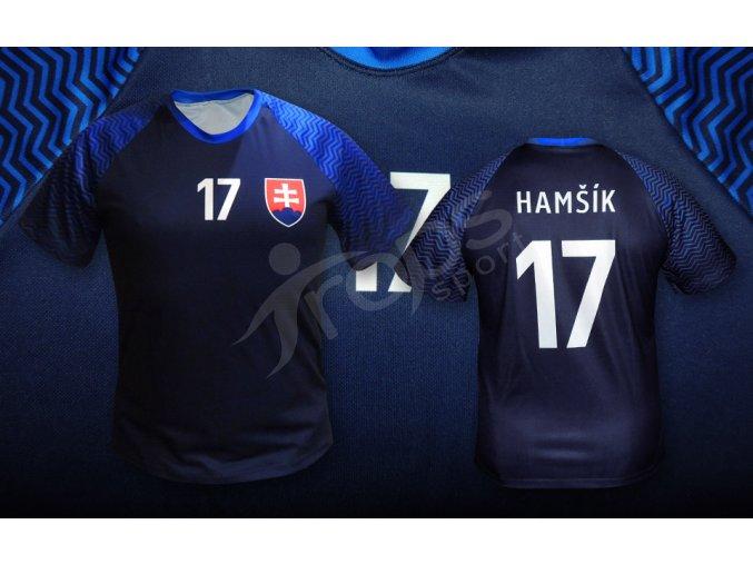 fotbalovy dres slovensko top modry