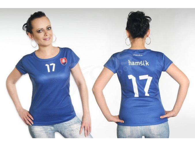 damsky fotbalovy dres slovensko top modry