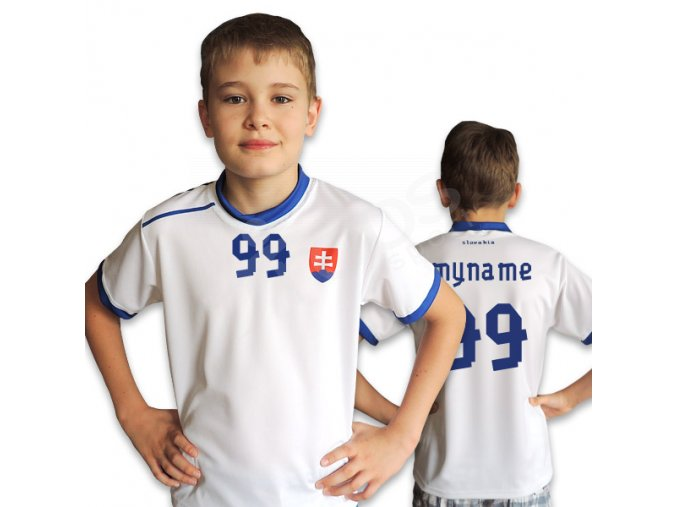 Dětský fotbalový dres SLOVENSKO TOP bílý