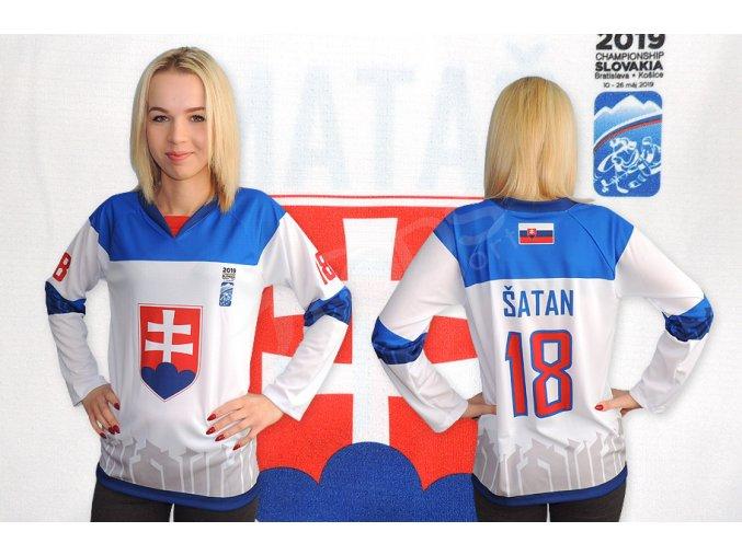 damsky hokejovy dres slovensko 2019 bily