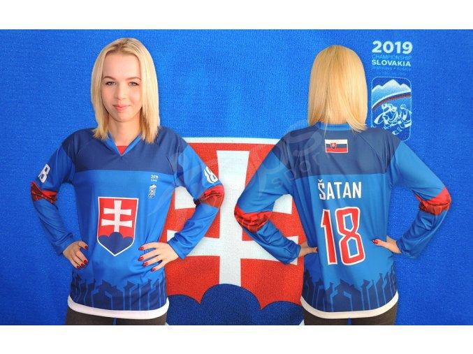 damsky hokejovy dres slovensko 2019 modry