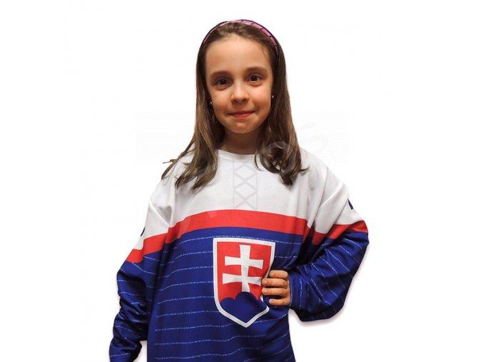 Dětský hokejový dres SLOVENSKO 2014 TOP - modrý