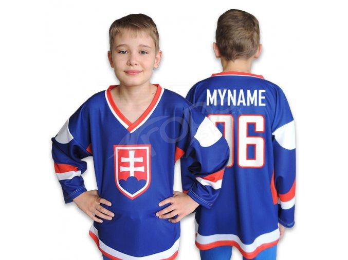 Dětský hokejový dres SLOVENSKO TOP -  modrý