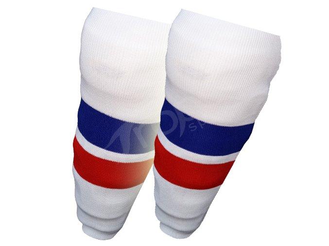 Hokejové štulpny SLOVENSKO- bílé