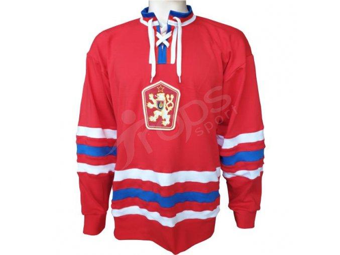 hokejovy dres retro cssr 76 pk cerveny