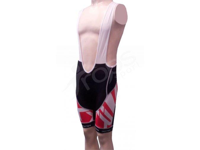 Cyklistické kalhoty s laclem Mondrian, krátké červené