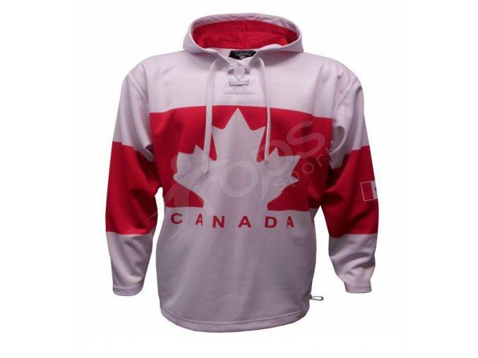 Mikina Kanada bílá vlastní potisk