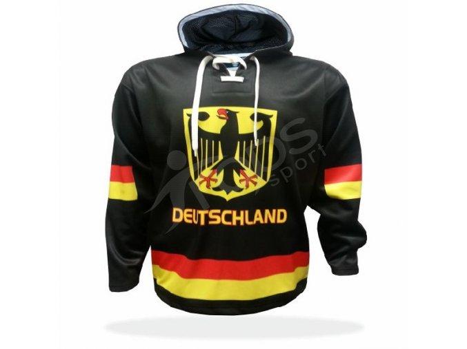 Mikina Německo černá vlastní potisk