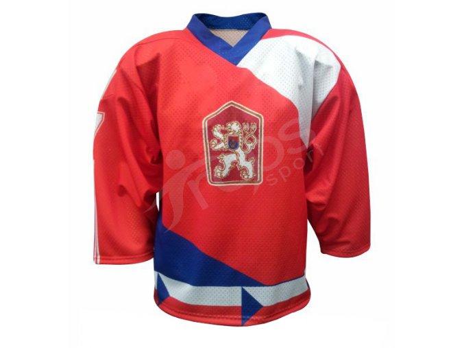 Hokejový retro dres ČSSR 1986 červený