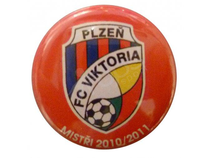 Placka malá FC Viktoria Plzeň, červená