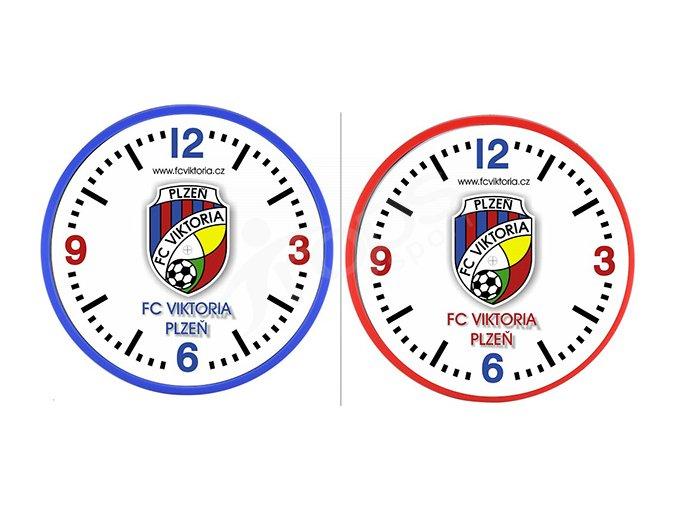 Nástěnné hodiny FC Viktoria Plzeň