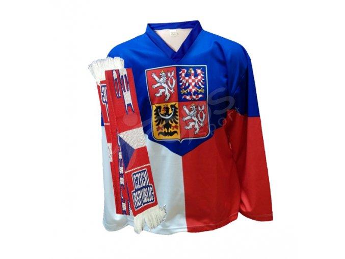 Hokejový dres ČR domácí + hokejová šála ČR