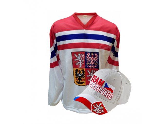 Hokejový dres ČR venkovní + kšiltovka ČR